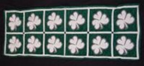Shamrock Table Runner BOE241 By Bridget's of Erin