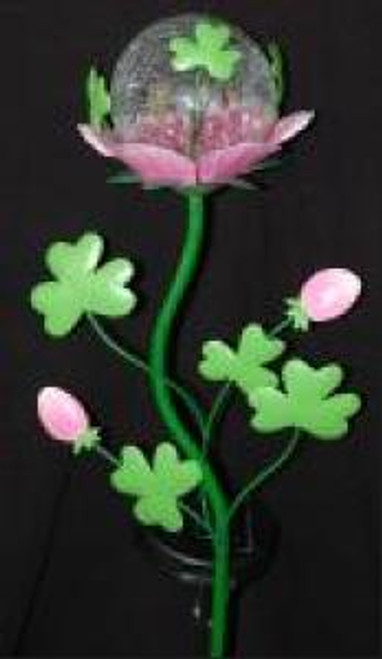 Irish Rose Shamrock Solar Stake BOE513 By Bridget's of Erin