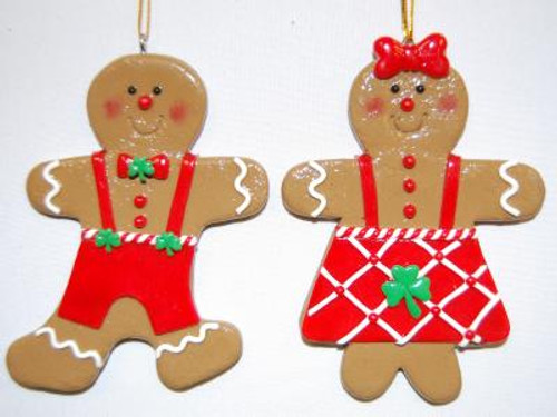 Gingerbread Couple Ornaments BOE955 By Bridget's of Erin