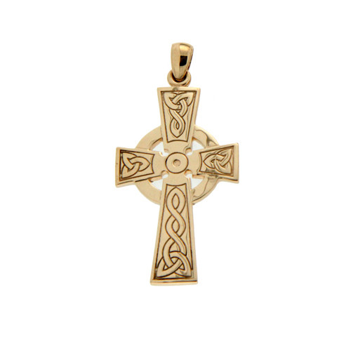 14K Yellow Gold Large Celtic Cross Pendant By KEITH JACK PCRG3046-14K