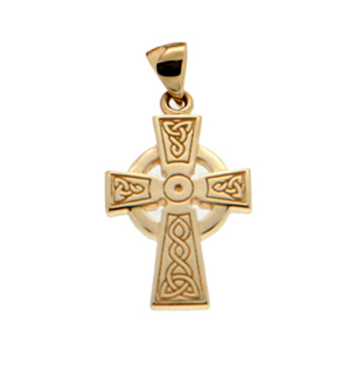 14K Yellow Gold Celtic Cross Pendant in By KEITH JACK PCRG3048-14K