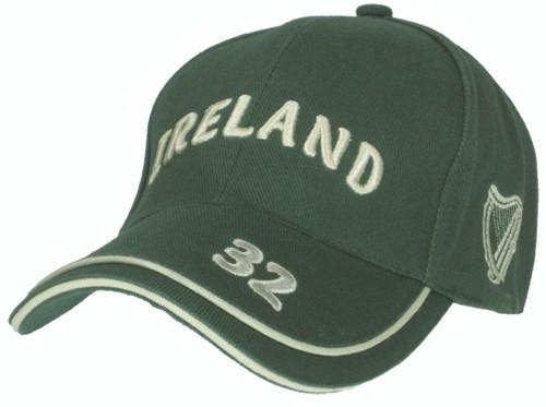 Ireland Luxury Baseball Cap with Harp in Bottle Green (ONE SIZE) BBCIRE-BOTTLE