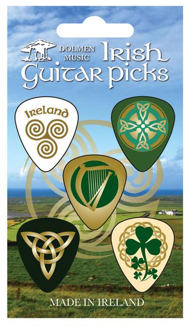 Celtic Irish Guitar Picks - Pack of 5 MUSGP2