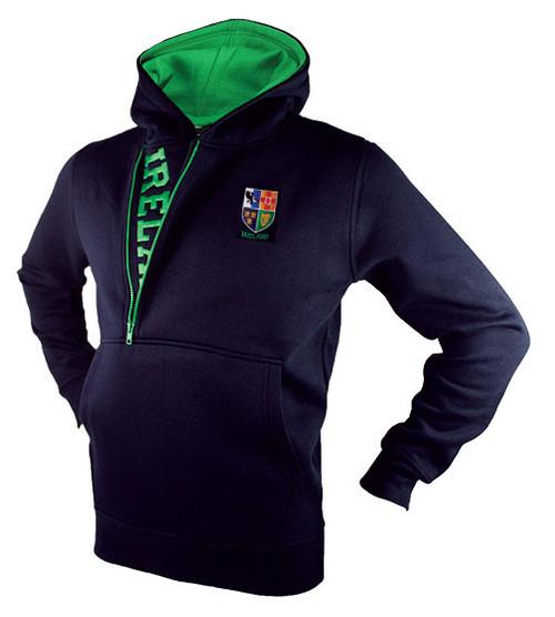 Half-Zip Ireland Hooded Sweatshirt in Navy HIHZ-NAVY