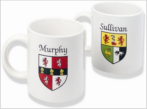 Irish Coat-of-Arms Mug in White