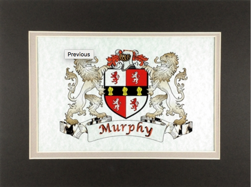 "Frameable Irish Coat of Arms Print 9"" x 12"""