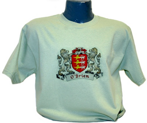 Irish Coat of Arms Tee Shirt in Mist Green