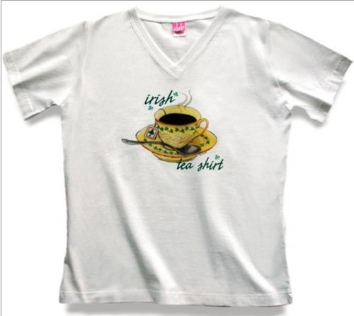 Irish Tea V-Neck Tee Shirt