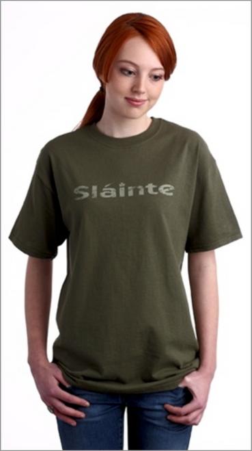 Slainte Tee Shirt in Summer Green