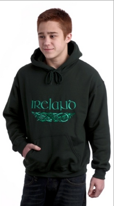 Irish Dragons Hooded Sweatshirt in Forest Green