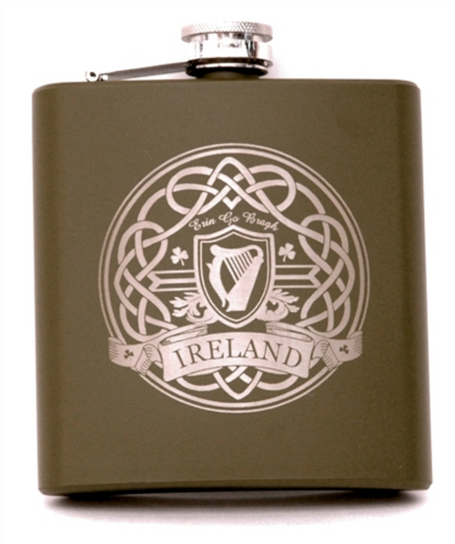 Harp Ireland Flask in Olive Green