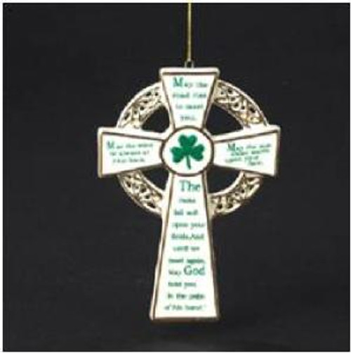 Porcelain Irish Blessing Cross Ornament