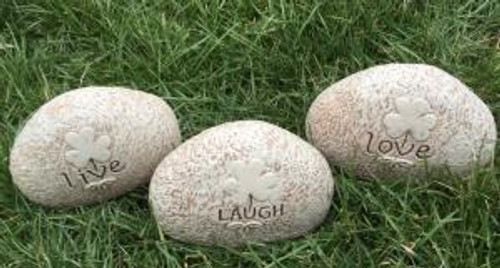 Shamrock Garden Stones - Live Laugh Love 3 Piece Set