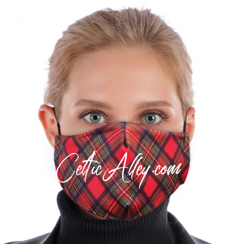 ReUsable Enviro Face Mask In Red Tartan Plaid