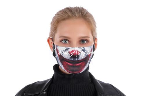 ReUsable Enviro Face Mask In Clown Smile
