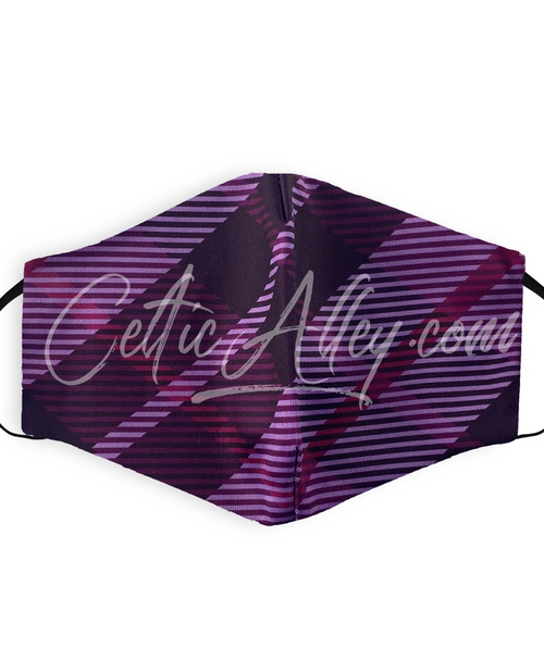 Purple Tartan plaid Printed Face Mask