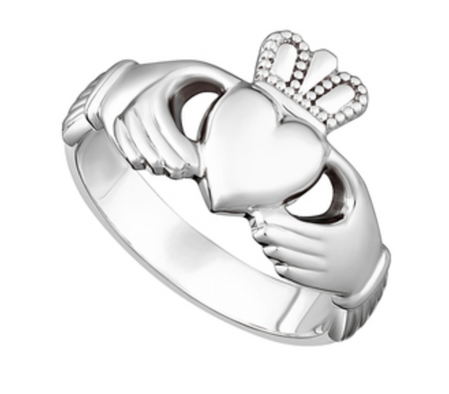 Sterling Silver Ladies Heavy Claddagh Ring S2271