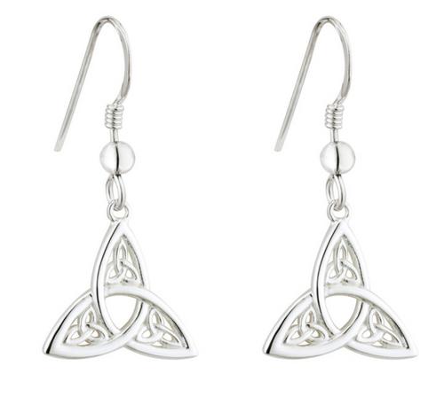 Sterling Silver Trinity Knot Drop Earrings S33775