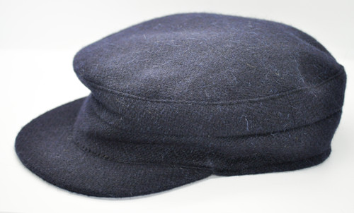Hanna Hats of Donegal IRISH Tweed Skipper Cap in Navy HandMade in Ireland