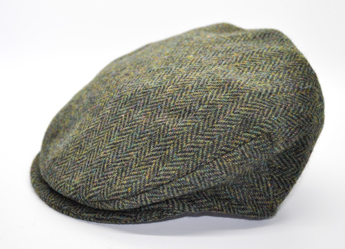 Hanna Hats of Donegal IRISH Children's Vintage Cap in Green Herringbone HandMade in Ireland