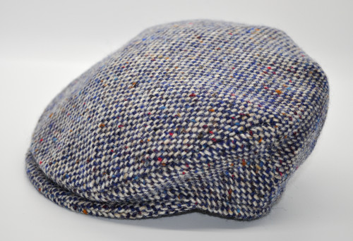 Hanna Hats of Donegal IRISH Children's Vintage Cap in Blue Salt & Pepper HandMade in Ireland