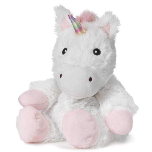 "Large 13"" Plush White Unicorn  Warmies® With Real Lavender"