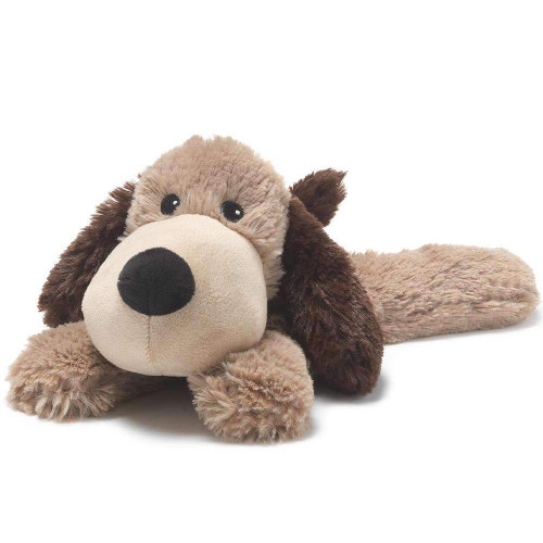 """Large 13"""" Plush Brown Dog  Warmies® With Real Lavender"""