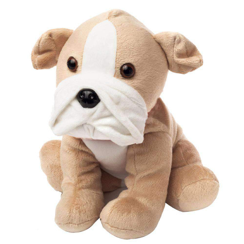 """Large 13"""" Plush Bull Dog  Warmies® With Real Lavender"""