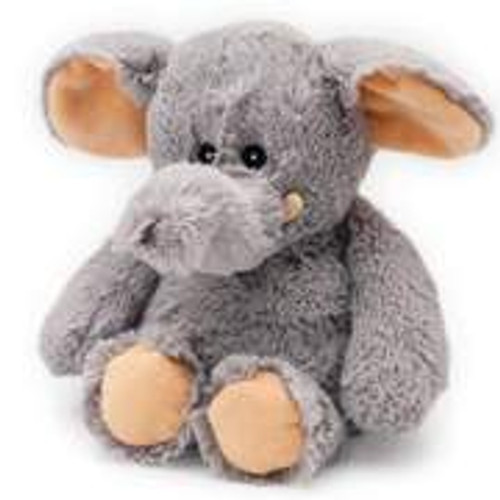 "Large 13"" Plush Gray Elephant  Warmies® With Real Lavender"