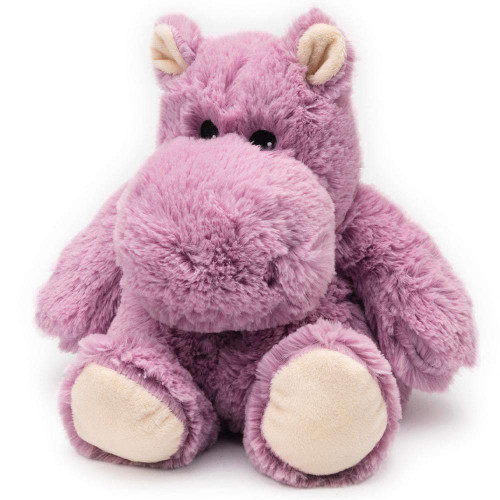"Large 13"" Plush Hippo  Warmies® With Real Lavender"