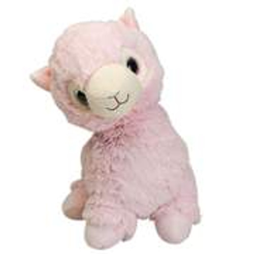 "Large 13"" Plush Pink Llama  Warmies® With Real Lavender"