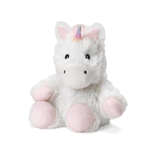 "Junior 9"" Plush White Unicon  Warmies® With Real Lavender"