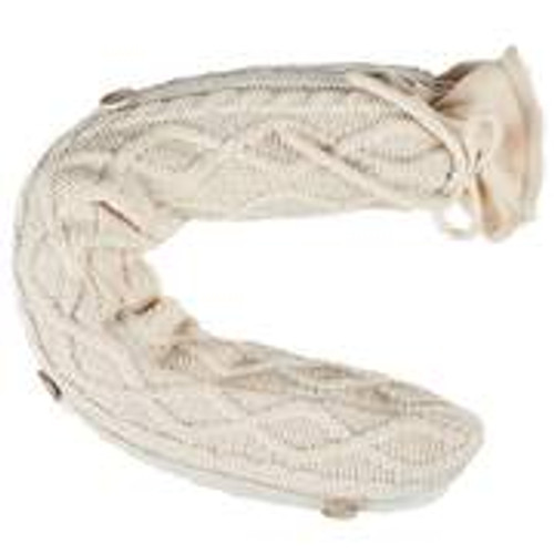 "Flexi Clay Cable Knit  Cream Color  Warmies® Hot-Pak (19"") With Real Lavender"