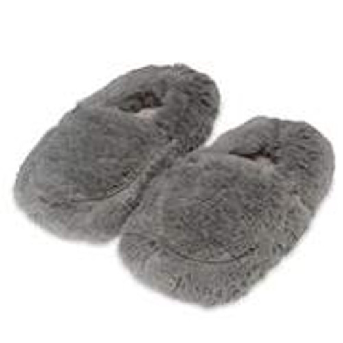 Gray Warmies® Spa Slippers  With Real Lavender