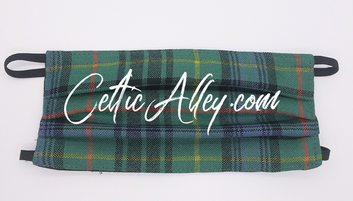 Official Tartan Plaid Face Mask In  Stewart Hunting Ancient  Hand Made In Scotland