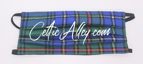 Official Tartan Plaid Face Mask In Cockburn Ancient Hand Made In Scotland