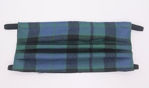 Official Tartan Plaid Pleated Face Mask In MacKay Modern Hand Made In Scotland