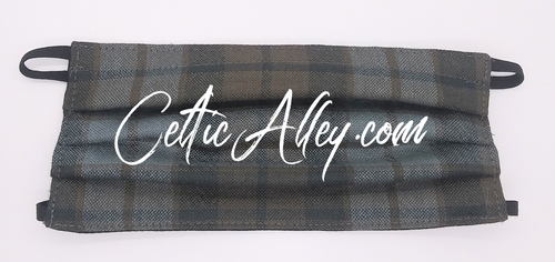 Official Tartan Plaid Pleated Face Mask In   MacKay Weathered Hand Made In Scotland