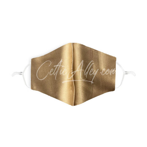 GOLD 100% Silk Face Mask