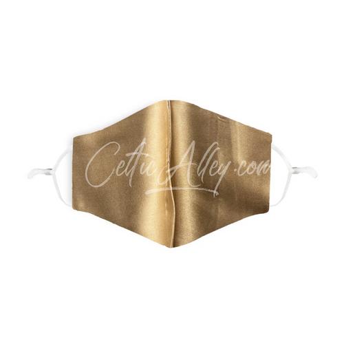 GOLD 100% Silk Face Mask