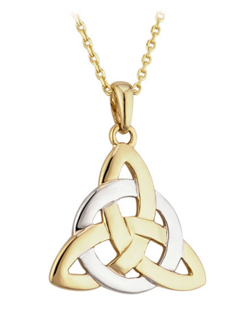 14k Gold Two-Tone Celtic Trinity Knot Pendant S44061