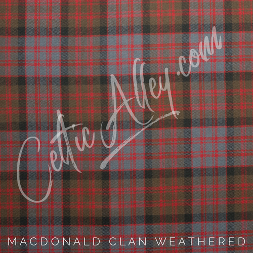 Official Tartan Plaid Face Mask In MacDonald Weathered HandMade In Scotland