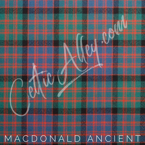 Official Tartan Plaid Face Mask In MacDonald Ancient HandMade In Scotland