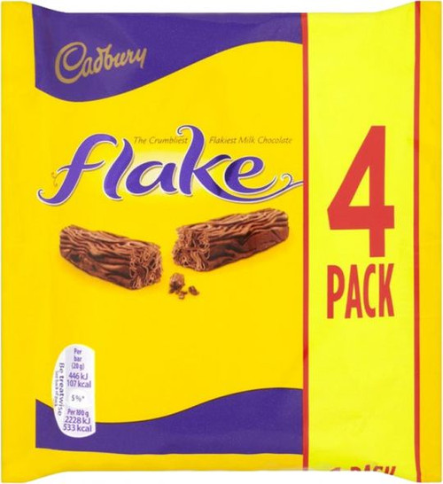 Cadbury Flake Bar 4 pack