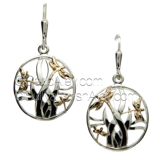 PEX4803  Suggested Retail Price – USD $185  These earrings are part of the Dragonfly Collection.     Materials:  Sterling Silver with 10k Yellow Gold  Dimensions (w x h):  3/4″ x 7/8″  Details: leverback     Wear these earrings to symbolize good luck, transformation, and self discovery.  Pair this piece with the PPX4802 or PPX4802-S necklace to complete the set.