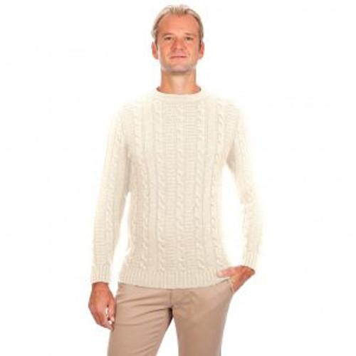 Men's Crew Neck Sweater in Natural