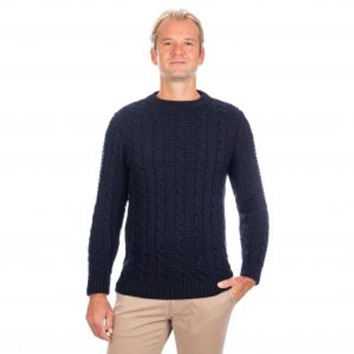 Men's Crew Neck Sweater in Navy