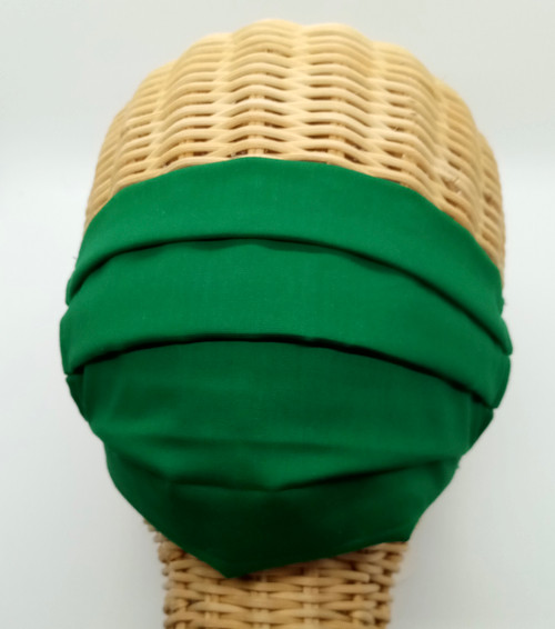 St. Patrick's Day Pleated Face Mask With Filter Pocket in Irish Kelly Green (SLMASK)