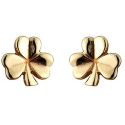 14k Gold Shamrock Small Stud Earrings S3958