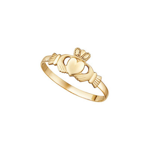 10K GOLD MINI CLADDAGH RING